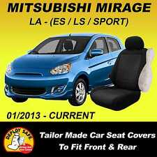 Car Seat Covers Mitsubishi Mirage LA Hatch 2013-Current Front & Rear Airbag Safe