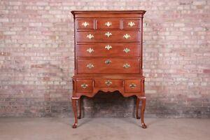 Queen Anne Mahogany Highboy Dresser by Davis Cabinet Company