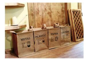 Recycling Bin Waste Bin Paper Bin Plastic Cans Metal Trash Can Laundry Basket