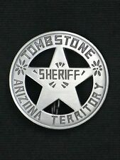 Badges SHERIFF TOMBSTONE A.T. 4,5 cm  Western Cowboy Stern Old West Accessoires