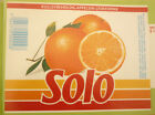 NORWAY SOFT DRINK CORDIAL LABEL, 1980s HANSA BRYGGERI BERGEN, SOLO ORANGE Lg 2