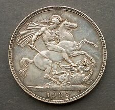 British - 1902 Edward VII Crown - Good Extra Fine (170)
