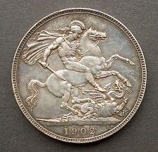British - 1902 Edward VII Crown - Good Extra Fine (170)