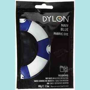 DYLON Fabric Machine OR HAND Dye  NAVY BLUE 100g Cotton, Wool - Natural Fibres