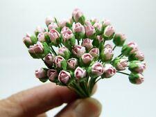 50 Tiny Roses Mulberry Paper, 6 mm, light rose, Scrapbook, Wedding Decor