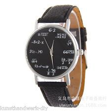 KuS 1 Schwarz Damenuhr Armbanduhr Quarzuhr Mathematik Formel Fashion Mode 24cm