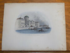 1840 Antique COLOR Print Great Britain Scenery///THE FOUR COURTS, DUBLIN