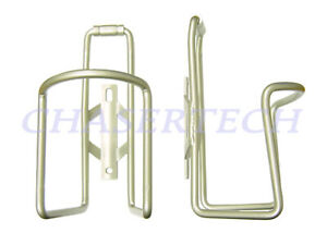 New MTB Road Bicycle Bike Alloy Bottle Cages Satin Silver 1 Pair
