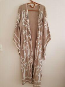 Talisman boho embroidered cotton kimono Size M/L