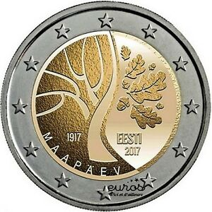 Münze 2 euro Gedänk- Estland 2017 - l'Estland gegen l'Unabhängigkeit