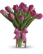 Precious Pink Tulips - Fresh Cut Flower Arrangement