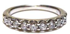 DESIGNER FD .60CT DIAMOND 14K WHITE GOLD STACKABLE STACKING WEDDING RING BAND