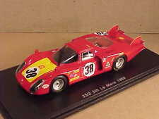 Spark 1/43 Resin Alfa Romeo T33/2, 5th Place 1968 LeMans, Facetti & Dini  #S4367