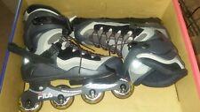 Fila Helix Black Gray Inline Skates Original Box Us M 12 Us L 11 Uk 11 Eu 45.5