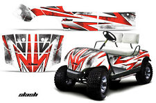 Yamaha Golf Cart Graphic Kit Wrap Parts AMR Racing Decal 1995-2006 SLASH RED