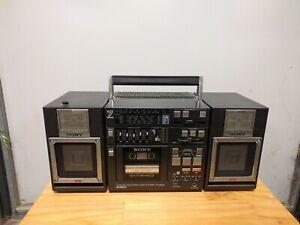 Sony CFS-9000 7 Band Stereo Cassette Corder AM/FM Boombox Auto-Reverse Cassette