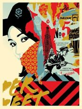Drink Crude Oil Print Shepard Fairey Poster Signed & Numbered Ed 450 Obey Banksy