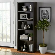 "Mainstays 71"" 5 Shelf Bookcase, Espresso New"