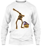 Skeleton Cute Dabbing Funny Dab Dance Gildan Long Sleeve Tee T-Shirt