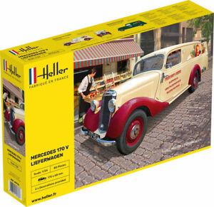 Heller 80736 1:24th scale 1952 Mercedes 170V LIEFERWAGEN (Van)