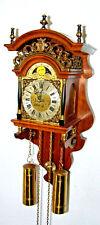 VINTAGE DUTCH FRIESIAN Friesenuhr WUBA Sallander WALL CLOCK stoelklok moonphase