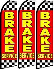 Brake Service King Size Swooper Flag banner sign pk of 3