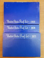 1969, 1970, 1971- Proof Set United States Coin Sets Government Original Boxes