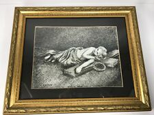 "Original Art Pen & Ink Drawing Signed Norma Aikman ""El Nino Jesus"" Religious"