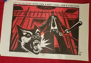 """FAITH NO MORE - King for a Day/Fool for a Lifetime -  """"Promotional poster"""""""