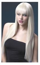 Parrucche lunga donna biondo bionda come capelli veri Lunga vera liscia sexy 71c
