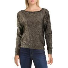 VELVET BY GRAHAM & SPENCER Womens Abril Ribbed Trim Sweatshirt Shirt BHFO 1526