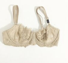 Victoria's Secret Dream Angels Push up Without Padding Beige Lace Bra 32DD - New
