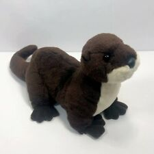 "Aurora Destination Nation Plush River Otter 15"" Stuffed Animal Toy 2014"