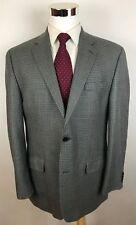 MICHAEL KORS Gray Houndstooth Silk Wool Modern Fit 2-Btn Blazer Sport Coat 42R