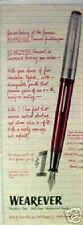 1954 Wearever Fountain Pens Writing Instruments Print Ad