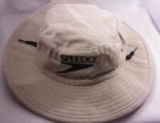 Tan Speedo Boonie Brim UPF 50 Sun Hat With Adjustable Chin Strap SZ S/M
