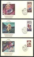 RUSSIA 1970's TEN SPACE FDC's WITH COLORFUL CACHETS