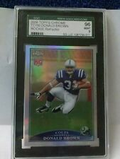 """""""ROOKIE CARD 2009 TOPPS CHROME TC150 DONALD BROWN ROOKIE REFRACTOR SGC GRADE 9"""