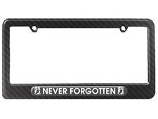 Never Forgotten POW MIA Military Vet Veteran License Plate Frame Carbon Fiber