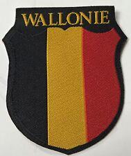 WWII GERMAN WAFFEN FOREIGN LEGION TUNIC SLEEVE SHIELD- WALLONIE BELGIUM