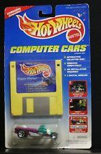 1 NEW HOT WHEELS COMPUTER CARS FLOPPY DISC RIGOR MOTOR SLAB LAB CREEPY 1995