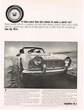 1963 Triumph TR-4 Takes More than wire wheels to make a sports car Vtg Print Ad