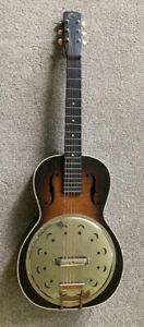 Vintage Regal square neck dobro  guitar with faux resonator   Stars and moons NR