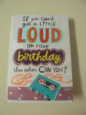Hallmark Birthday Sound Card with Boom Box Lights Plays Pon De Replay by Rihanna