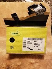 NAOT Women's Miracle Wedge Sandal Black/Lizard SZ 10