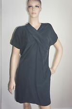 $595 NEW MAXSPORT by Max Mara Black/Washed Black Dress Sz IT44/US10