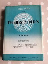Progress in Optics Edited by Emil Wolf first edition Vol 3 1964