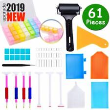 61 Pieces Diamond Painting Tools Accessories Kits With Roller Fix For Adults 5D