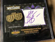 WWE Store Exclusive WrestleMania 34 Limited Edition of 34 Sasha Banks Auto Pin