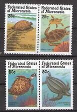 Micronesia 1991 Turtles (2) pair Set of 4 MNH (SC# 134-137)